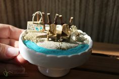 Desktop Miniature Beach Vacation (Non-Spill) with LIFE Is BETTER At The BEACH Sign  - by Landscapes In  Miniature
