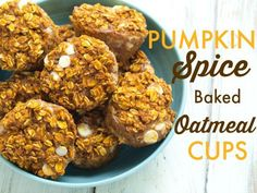 Baked oatmeal muffin cups are a staple in our kitchen.  They are such a perfect breakfast idea.  Made with 100% whole grains and very low sugar, they make a healthy breakfast that is reminiscent of a warm bowl of oatmeal, yet they are portable and can be eaten on the go. I am really not sure what took me so long to come up with this pumpkin version. I have a Double Chocolate Strawberry Baked Oatmeal Cup, an Apple Cinnamon Baked Oatmeal Cup, and a Blueberry Baked Oatmeal Cup.  It was…