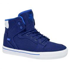 SUPRA KIDS Vaider navy blue white chaussures enfants 65,00 € #supra #suprafootwear #suprashoes #skateshoes #sneakers #sneaker #shoes #skate #skateboard #skateboarding #streetshop #skateshop @playskateshop