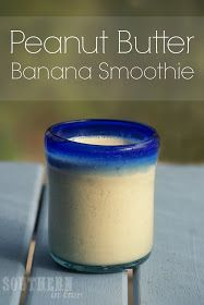 Healthy Peanut Butter Banana Smoothie Recipe - Gluten Free, Low Fat