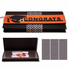 Graduation Card Box and Graduation Gift Box with Inserts!