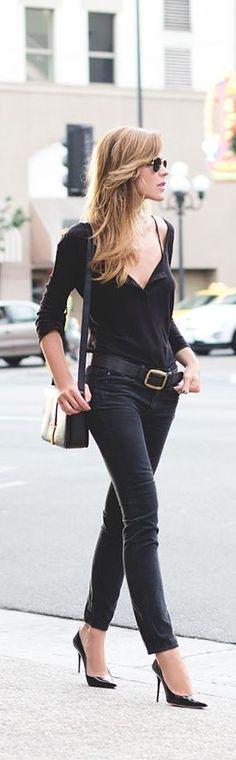 #street #fashion casual black @wachabuy