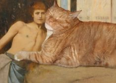 Fernand Khnopff, Art or the Caresses of the Sphynx Huge Cat, Spanish Art, Famous Words, Ginger Cats, Fat Cats, Medieval Art, Russian Art, French Art, Funny Animal Pictures
