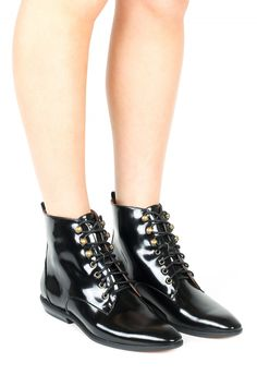 Jeffrey Campbell Shoes CHESARE Boots in Black Box $200 (lace up ankle boots)