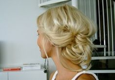 Messy Updo Down Low.