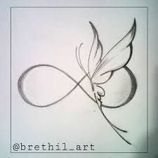 Image result for infinity and butterfly tattoo