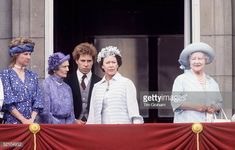 The Royal Family On The Balcony At Buckingham Palace After Trooping The Colour Duchess Of Gloucester Princess Alice Lord Linley Princess Margaret And...