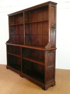 Gothic Revival Oak Bookcase by AWN Pugin. British. circa 1840