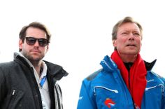 Prince Felix with father Grand Duke Henri of Luxembourg attend the Winter Olympic Games in Sochi, Russia 2/10/14