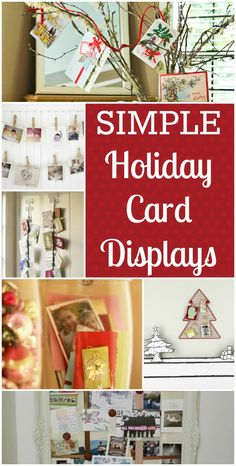 Simple Holiday Card Display   Ideas
