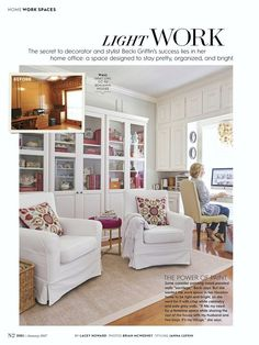 "Hey look, that's me! I'm sitting at that very desk in one of my favorite rooms, as I write this. The nice people at Better Homes and Gardens magazine featured my home office in their January issue. The story was included in ""most"" subscribers magazines. Sometimes magazines do region"