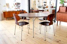 Arne Jacobsen fourmi ant myren rosewood jubileum table www.maisonnordik.com