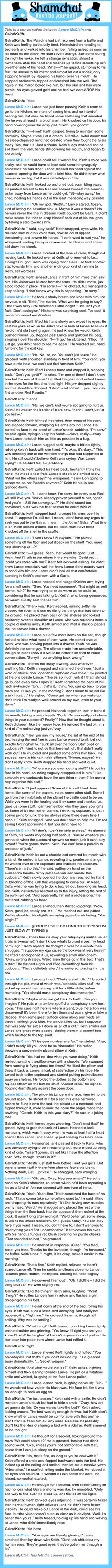 A conversation between Galra!Keith and Lance McClain