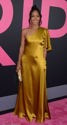 Goddess: All eyes were on Jada Pinkett Smith when she stepped out for the LA premiere of her new movie, Girls Trip, on Thursday night