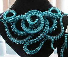 The octopus necklace – also know as the jewel of the deep – is a handcrafted piece so stunning it's fit for underwater royalty. This completely customizable necklace features an intricate design of colorful octopus tentacles that complement any look. I Love Jewelry, Boho Jewelry, Bridal Jewelry, Jewelry Accessories, Jewelry Necklaces, Handmade Jewelry, Fashion Jewelry, Jewelry Making, Unique Jewelry