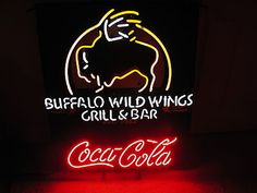 Buffalo Wildwings Coca Cola Advertising Neon Sign Awesome Graphics Colors
