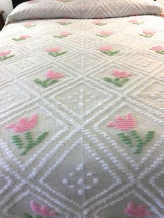 Linens & Textiles (pre-1930) With 5 Inch Fringe 80x93 Buy One Get One Free Lovely Antique Hand Crocheted Coverlet Waterlilies,popcorn