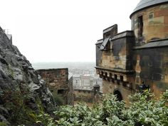 Misty view from the Edinburgh Castle