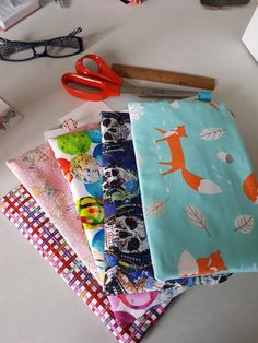 Various pencil cases - fox marbles Pencil Cases, Marbles, Gingham, Fox, Just For You, Bear, Handmade, Pencil Boxes, Hand Made
