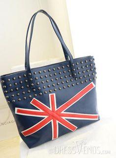 US$19.99 Stunning Fancy Rivet Casual Britain Flag One-shoulder Shoulder Bag. #Handbags #Rivet #Casual #One-shoulder