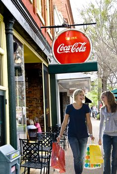Shopping In downtown Gainesville! http://www.discoverlakelanier.com