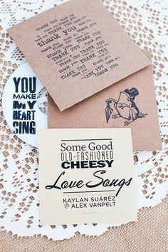 CD Wedding Favors