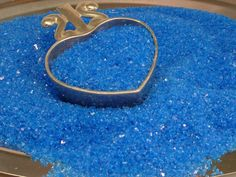 Lovely Blue Glitter Glass Crystals - Sky Blue - Chunky 70 Grit, from Meyer Imports