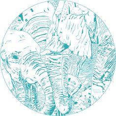 Adobe CCIllustrator,Heidi Does Design, Heidi Myllylä, Graphic design, Media Design, Art, Illustration, Vector Art, Elephant, @heididoesdesign Media Design, Design Art, Graphic Art, Graphic Design, Vector Art, Illustrator, Adobe, Elephant, Cob Loaf