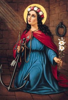 My confirmation saint- Saint Philomena. This site includes a short version of her story, and many prayers.