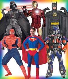 We have all the most popular, fun, and   colorful costumed super heros! Wait till you see the little kids eyes light up when they see a super hero come to their birthday party. They will feel very special.   We have all the popular super heroes.