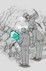 The discovery of diamond.