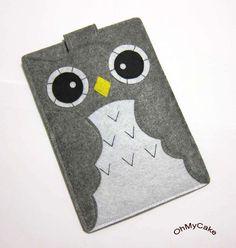 Owl felt Kindle case