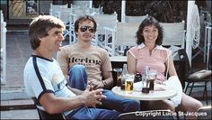 Gilles and Joanne dinning with a friend
