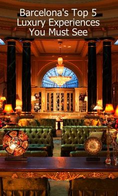 When in Barcelona, be sure to enjoy a cocktail at El Palace Hotel's Bar. Built by César Ritz in 1919, the El Palace holds the distinction of being a 5-star grand luxury hotel longer than any other property in the city. The grandeur of the El Palace is at its best in the magnificent sitting area that leads to the bar.