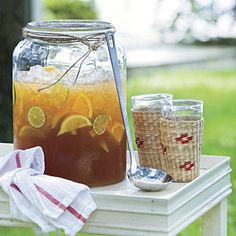 Lemonade Iced Tea     Lemonade and fresh mint leaves provide a refreshing twist to this classic summer drink. One reader suggests adding a tablespoon of orange-flavored vodka to a glass of the drink to add a grown-up kick.