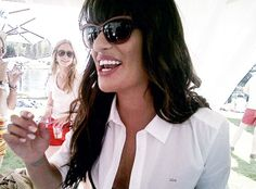 """Shining Star » """"Glee"""" cast member Lea Michele is right on key as she keeps her peepers shaded from the California sun at Coachella in Lacoste sunglass style L627S from Marchon Eyewear."""
