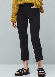 Pocket cotton trousers -  Woman | MANGO United Kingdom