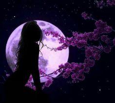 Purple moon goddess