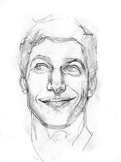 Andy Samberg by Bill Sienkiewicz *