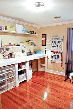 I like the counter space for desk idea in the butler's pantry...