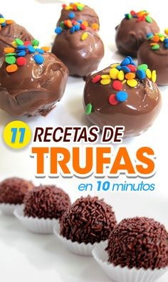 11 truffle recipes you can do in less than 10 minutes, Desserts, 11 Recipes with truffles to make in 10 minutes. Recipes with truffles. How to make desserts Food with truffles. Desserts To Make, Dessert Recipes, Bolo Diy, Tapas, Graduation Party Desserts, Yummy Treats, Yummy Food, Nutella, Truffle Recipe