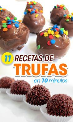 11 Recetas con trufas para hacer en 10 minutos. Recipes with truffles. Food. Desserts recipes. How to make desserts Food with truffles. Chocolate.