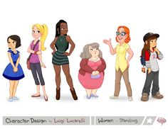 Women Standing by LuigiL.deviantart.com on @DeviantArt