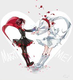 Hello I'm Kuma! I draw a lot of stuff. I do a long RWBY Fan-Manga call Henceforward AU. Rwby Comic, Rwby Fanart, Rwby Anime, Red Like Roses, White Roses, Rwby White Rose, Shoujo Ai, Rwby Weiss, Rwby Volume
