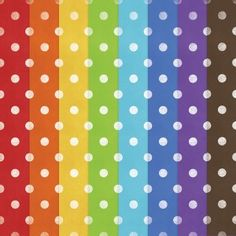 free rainbow colored polka dot paper download