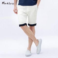 Summer Linen Shorts Men Fluid Male Loose Casual Beach Men's Outside Shorts Two Colors Optional