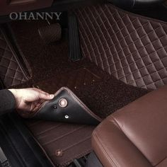 Car Floor Mats for Toyota Highlander Hybrid xle 2019 Custom Leather mat Full Surrounded Cargo Liner All Weather Protection Waterpoof Non-Slip Set Left Drive Coffee Color