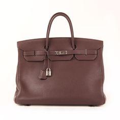 """Hermès Birkin 40 in Brown """"Terre"""" Togo leather."""