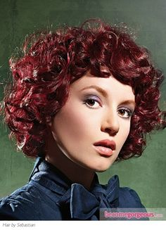 Medium Long Hairstyles - Medium Cherry Cola Red Curly Hair Style...Love Love Love it!!