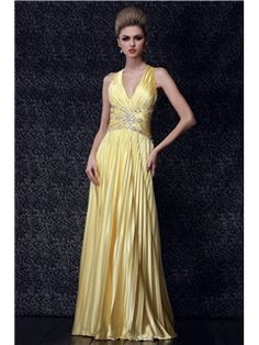 Sexy A-line Floor-Length V-Neck Beaded Dasha's Prom/Evening Dress